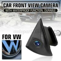 Car Front View Camera Lens Waterproof 170° Wide Logo Embedded For VW Golf
