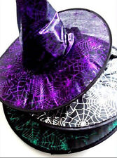 Halloween Cobweb Witches Witch Outfit Hat fancy dress party black green purple