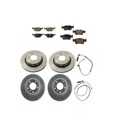 BMW E46 323i 328Ci Rear And Front Disc Brake Rotors with Pads & Sensors Kit