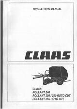CLAAS Round Botteleuse Rollant 240 & 250 et Rollant 250 & 255 ROTO CUT Manuel