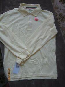 NEW French Toast Boys Yellow Long Sleeve Uniform Polo Size XL 14-16