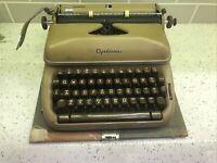 Vintage Optima Elite 3 Typewriter - 1956 - Beautiful Brown w/Brown Keys! Works!!