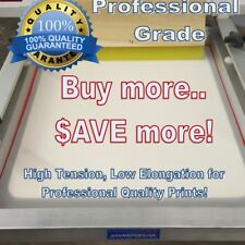"""23"""" x 31"""" 255 Yellow Hi Tension Mesh Professional Aluminum Screen Printing Frame"""