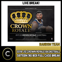 2019-20 PANINI CROWN ROYALE 16 BOX (FULL CASE) BREAK #B309 - RANDOM TEAMS