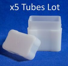 5 Silver Bar Plastic Storage Tubes By Coin Safe 5 Pcs Lot High Quality US New