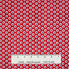 Patriotic Fabric - USA Small Star Medallion on Red - Windham Cotton YARD