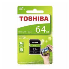 SD Card Toshiba 64GB N203 SDXC Class 10 Ultra DSLR Video Camera Memory 100mb/s