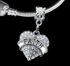 Faith Charm  Faithful charm Religious charm Fits European Bracelet (charm only)