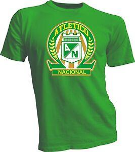 Atletico Nacional Colombia Medellin Football Soccer Men's Tee T-Shirt Handmade