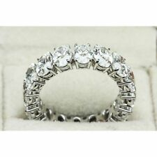 CERTIFIED 5.00CT OVAL CUT DIAMOND ETERNITY RING 14K WHITE GOLD ANNIVERSARY BAND
