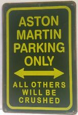 Aston Martin Parking Retro Vintage Metal Sign Home Garage Workshop Pub Studio