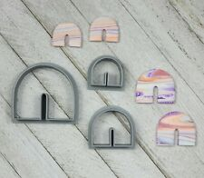 Rainbow U Arch Shape Set of 3 Cutters for Polymer Clay Jewelry Craft Tool Making