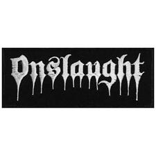 OFFICIAL LICENSED - ONSLAUGHT - LOGO SEW-ON PATCH THRASH METAL