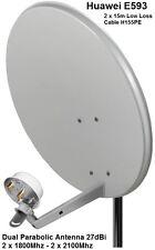Dual Mobile Broadband Antenna Huawei Aerial Booster 27dBi B593 SMA 1800-2100Mhz