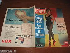 RIVISTA TEMPO 1956/42=GINA LOLLOBRIGIDA=EDDY DUCHIN FILM=COME NASCE UNO STRUZZO=