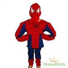 Spiderman Muscle Hero Kid Boy Fancy Party Costume Sz 5