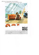 Publicité advertising  2000   ROLF BENZ  canapés   fauteuils