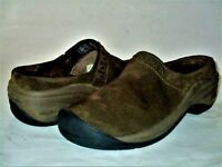 KEEN Women's Brown Suede Slides Slip On Mule Clog Shoes Size USA 5 M EUR 35 GUC