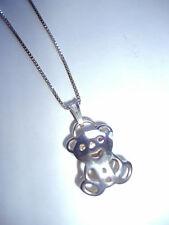 """Nuevo Collar de oso Tous en plata esterlina 92.5 y 8 3/4"""" Gota"""