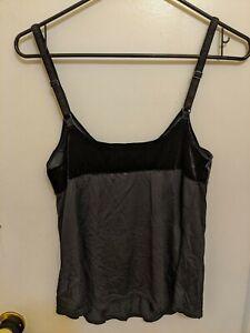 Victoria Secret Cami New Medium black velour detail lightweight