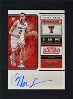 2018-19 Contenders Draft Picks College Ticket Auto #65 Zhaire Smith