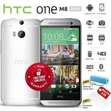 "New Unlocked HTC ONE M8 Silver 5"" FHD Quad Core 16GB 4G LTE Android Mobile Phone"