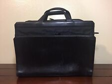 Tumi Laptop Briefcase Organizer Black Nylon Leather Messenger Bag Attache 2964D