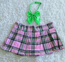 Japanese Schoolgirl Anime Costume Pink and Green Bow Tie Sailor Moon Cosplay