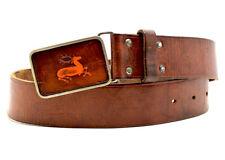 Andrea Eberle Vintage Real Leather Belt Brown Size 36