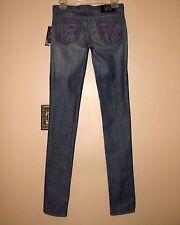 $220 Rock&Republic Slim Skinny Leg Low Rise Stretch Jeans Medium Vacancy Blue 25