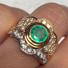 Smaragd Brillant Ring 1ct 1.30 ct VVS NOBEL TOUCH 750 er Gold SW ca. 5.699.-Euro