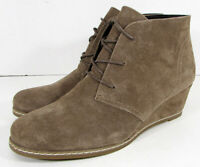 Bjorndal Womens Rachel Wedge Heel Chukka Bootie Shoes, Taupe, US 10