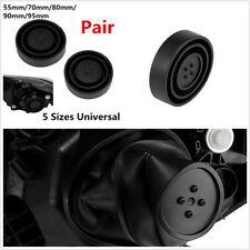 2 Pcs Black Car Off-Road Headlight HID Conversion Retrofit Seal Cap Dust Covers