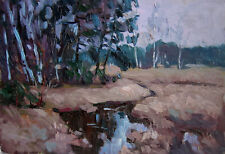 Russian oil hardboard  Impressionism Painting Landscape 2017 Gordeeva 2