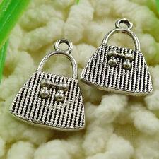 Free Ship 60 pieces tibetan silver handbag charms 21x15mm #1470