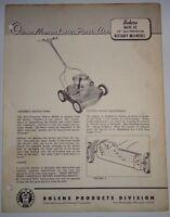 "Bolens 462C-01 Self Propelled 20"" Lawn Mower Operators Owners Parts List Manual"