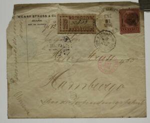 very old stamp Colombia Briefmarke Kolumbien Brief 1898