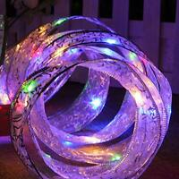 13FT LED Fairy String Butterfly Knot Light Ribbon for Wedding Xmas Party Decor