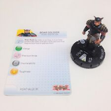 Heroclix Yu-Gi-Oh! Series 2 set Boar Soldier #003 Common figure w/card!
