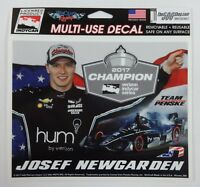2017 Verizon Indycar Series Champion Josef Newgarden Collector Decal