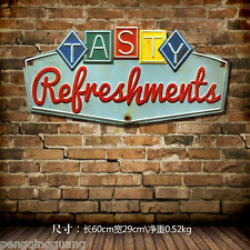 Tasty Refreshment Metal Tin Signs Hand-painted Poster Popular Home Wall Decor