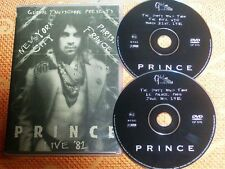 "PRINCE 2 DVD LIVE ""PARIS & NEW YORK 1981"" DIRTY MIND TOUR -OOPS!- VERY RARE"