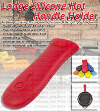 Lodge Silicone Hot Handle Holder for Cast Iron Skillets Red Comfortable Grip