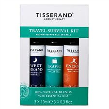 Tisserand Aromatherapy Travel Survival Kit Rollerball 3 x 10ml Energy Sweet Drea