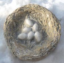 """Birdnest birdbath birdfeeder mold concrete plaster mould 8.5"""" x 2"""" thick"""