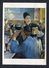 Art Card - The Waitress by Edovard Monet. Stamp/Postmark - 1988
