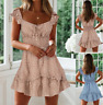 Womens Outdoor Baggy Holiday UK Party cosy Tops Short Loose Mini Dresses