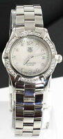 Ladies Tag Heuer Aquarracer Pearl Diamond Swiss Quartz Watch WAF1416.BA0813