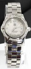 Ladies Tag Heuer Aquarracer Pearl Diamond Swiss Quartz Watch WAF1416.BA0813