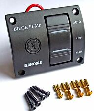 Bilge pump switch panel SPLASHPROOF, SEAWORLD 3 way 12v illuminated   10-10714